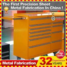 Custom Heavy Duty metal tool box with ball bearing slides