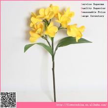 hot selling frangipani flower , PU material artificial flower arrangement