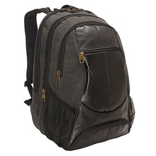 canvas camera laptop backpack leather body laptop bag