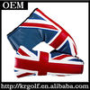 2014 Custom Made New Golf Produt Putter Headcover Innovative UK Flag Leather Wholesale China Easy Load Putter Head Cover