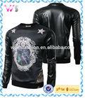 Custom cool made motorcycle genuine men leather jacket