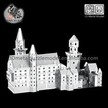 3D Architectural Metallic Puzzle Neuschwanstein Castle DIY Building Jigsaw