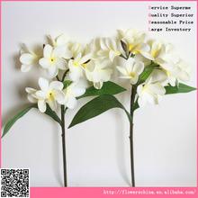 gorgeous frangipani flower , PU material artificial flower arrangement guangzhou
