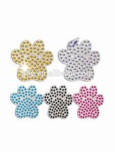 2014 wholesale Dog Paw Self Adhesive crystal rhinestone sticker for decor