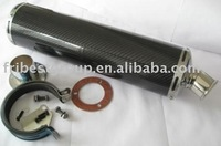 carbon fiber muffler for street motorcycle 400cc 600cc 1000cc