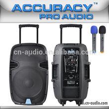 Dual UHF Microphone Amplifier Battery Chargeable Speaker PML15AMFQ-U2BP-BT