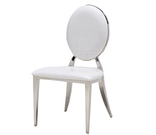 Hot sale luxury metal dining chair/louis ghost chair with pu leather for home furniture