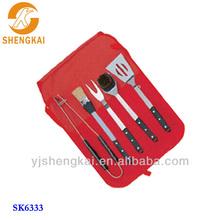 stainless steel 5pcs custom BBQ tools