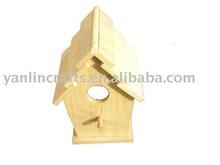 Eco-friendly wooden bird nest
