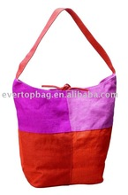 Custom design tote bag plastic woven beach bags