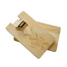 ECO-friendly OEM waterproof bamboo business card USB Flash Drive