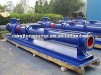 Xinglong progressive cavity mono single screw pump used for sewage sludge, paper pulp, food,etc.