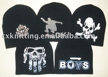 custom screen printed knit hats