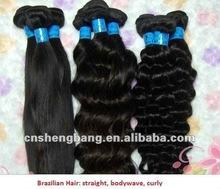 2012 fashionable brazilian virgin human hair weft