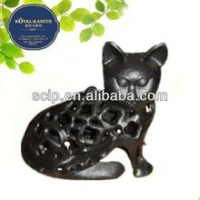 cat cast iron lantern