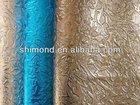 Bling Gilding Metallic Embossed PU PVC Interior Decoration Leather