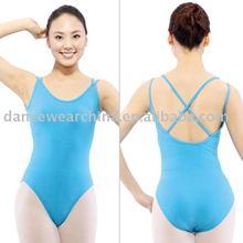 2178 River Blue Double Straps Camisole Leotard with Beijing Dansgirl