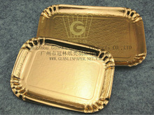Golden Paper Tray / Paper Plate European Design