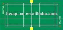 High Wear-resisting Performance Indoor Badminton PVC Flooring/PVC Sports Flooring
