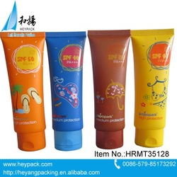 plastic cosmetic tube packing in oval shape