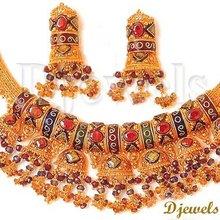 22K Gold Kundan Necklace Sets, kundan jewellery, Bridal Kundan Necklace Sets