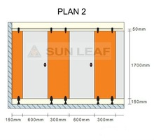 Sunleaf toilet cubicle hardware