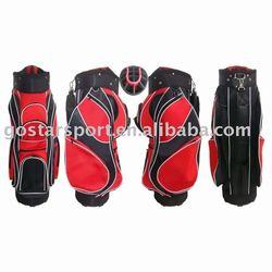Red Nylon Golf Cart Bag