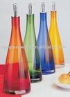 various color oil glass bottles