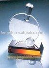 crystal table tennis trophy