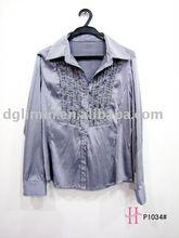 Señora de moda camiseta blusa de moda de China de fábrica de moda