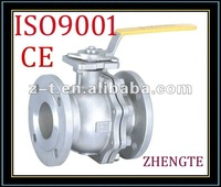 ANSI B16.34 Flanged ball valve with ISO5211 Direct mounting pad