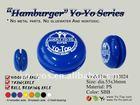 HJ's High Quality Hamburger Shape Plastic Yo Yo With Wooden Axle