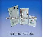 NSP006/007/008 gray bevelled mirror frame