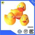 squeaky venta al por mayor baño de animales de juguete de vinilo amarillo pato