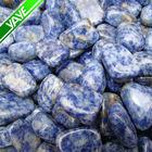 Highly polished tumbled stones Blue spot stone