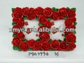 polyresinกรอบรูปดอกกุหลาบแดงสำหรับของขวัญแต่งงาน