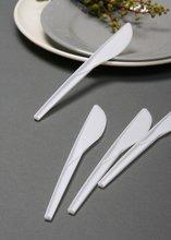disposable plastic white knife