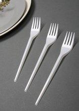 disposable plastic white fork