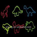 教育ギフトdinnsaurおかしい動物の形状シリコン愚かなバンド