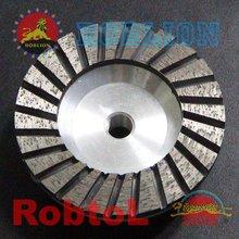 4.5''(115mm) Turbo Rim Diamond Grinding Cup Wheel For Concrete with Aluminium Body---COBF