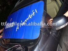 Dianteira do carro neve sombra com espuma de PE material de 180 x 70 cm