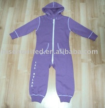 Soft CVC Brushed Fleece One-pc suit