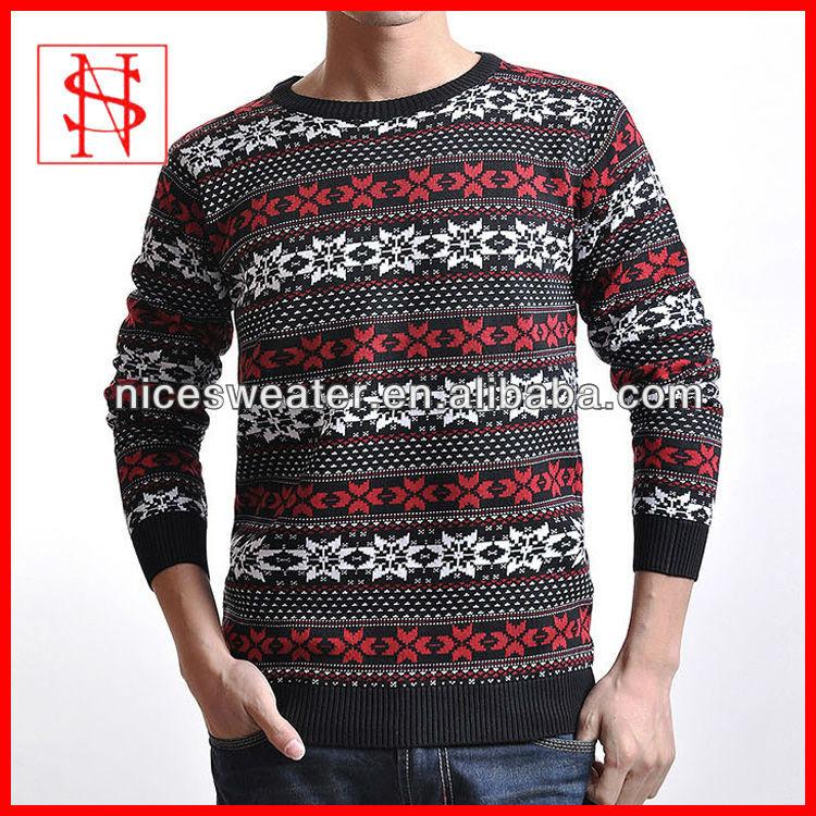 uomo vendita calda stile nordico fiocco di neve jacquard pattern ...
