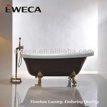 Acrylic clawfoot bathtub red