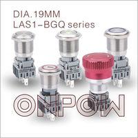 ONPOW 12V LED Latching Push button switch(LAS1BGQ,19MM,CE,CCC,ROHS,REACH,IP65,IP67)