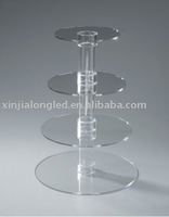 4 tiers Acrylic Cupcake Stand Acrylic Cupcake Display Acrylic Cake Stand With Hollow Tube