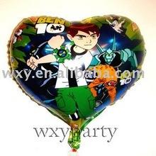Heart shape cartoon printed Helium foil balloon