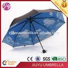 "21""*8 Ribs Blue Sky 3 Fold Umbrella"