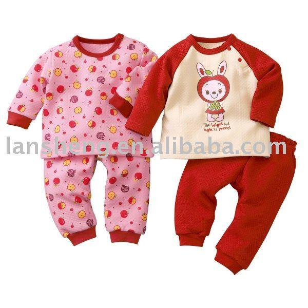 Algodón pijamas infantiles establecidos, ropa de noche infantil ...