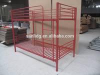 Red bunk bed, red metal bunk bed
